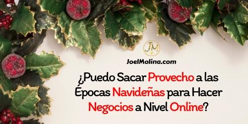 ¿Puedo Sacar Provecho a las Épocas Navideñas para Hacer Negocios a Nivel Online? - Joel Molina