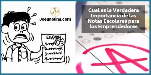 Cual es la Verdadera Importancia de las Notas Escolares para los Emprendedores - Joel Molina