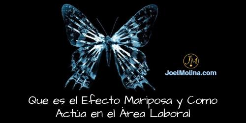 Que es el Efecto Mariposa y Como Actúa en el Área Laboral - Joel Molina