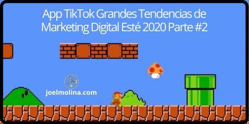 App TikTok Grandes Tendencias de Marketing Digital Esté 2020 Parte #2