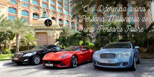 Que Diferencia a una Persona Millonaria de una Persona Pobre
